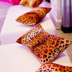Leopard Reception Lounge Decor