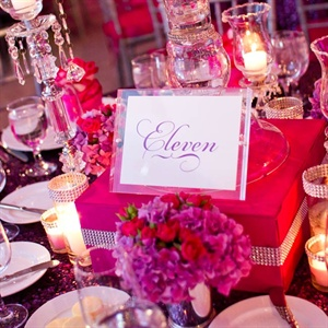 Glam Pink Reception Decor