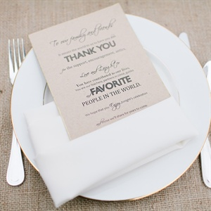 Neutral Wedding Place Settings