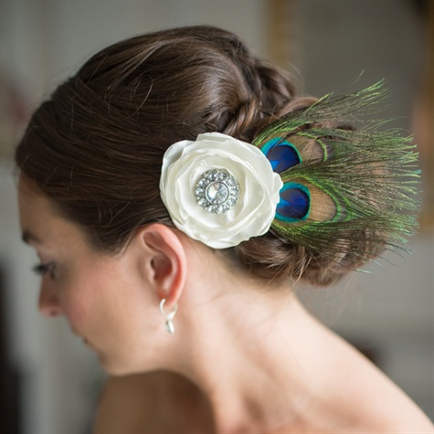 Peacock Hair Piece