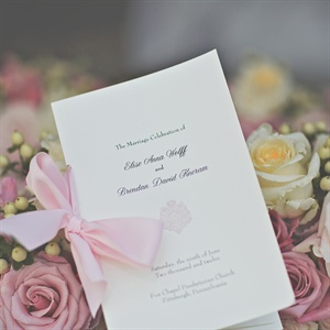 Bow-Tied Ceremony Programs