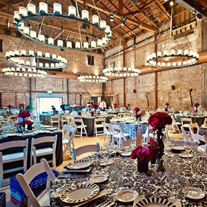 Dinner and dancing was held in The Vintage Estate's elegant barrel room.