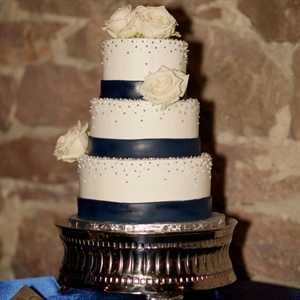 Navy Ribboned Cake