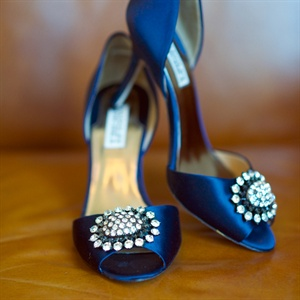 Navy Badgley Mischka Wedding Shoes