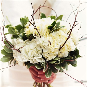 Rustic Winter Foliage Bridal Bouquet
