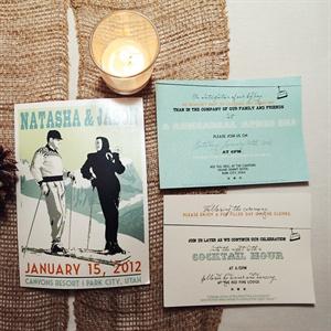 See More Invitations Light Blue Pastels Vintage