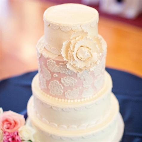 Buttercream Lace Wedding Cake