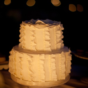 Ruffled White Cake