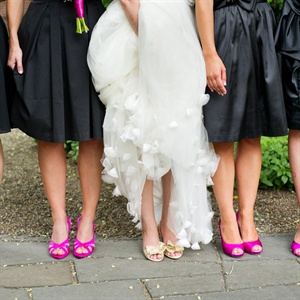 Magenta Bridesmaid Shoes
