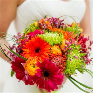 Bright Colorful Bridal Bouquet