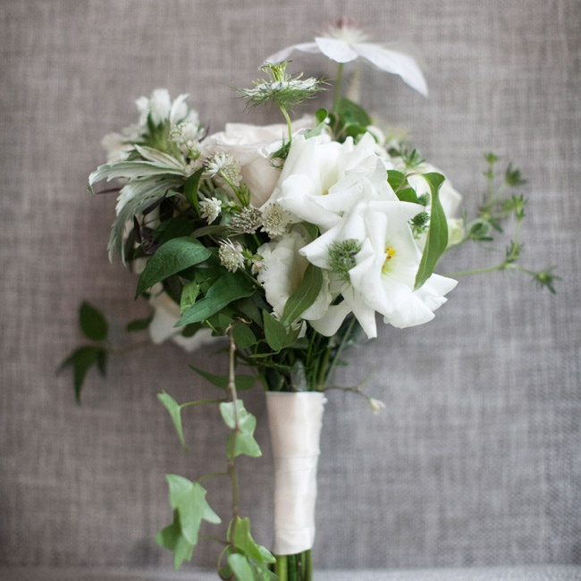 The bridesmaids' bouquets were created to compliment the Bride's 1920's inspired bridal bouquet.