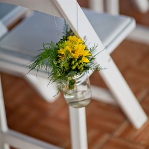 Yellow Ceremony Chair Decor
