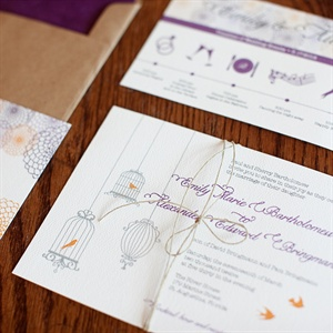 Vintage Bird Invitations