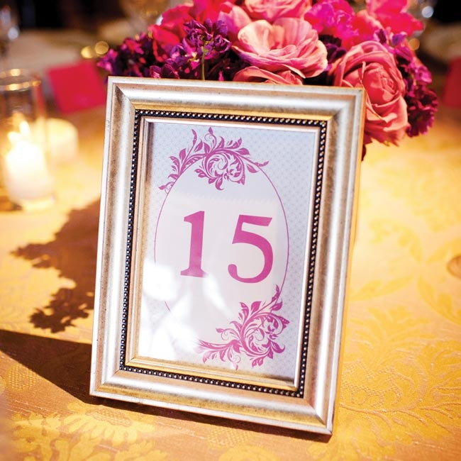 Framed magenta numbers identified each table.