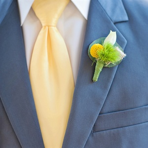 Green and Yellow Boutonniere