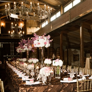 Elegant Long Reception Table