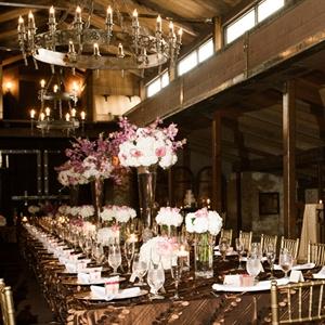 Elegant Long Reception Table