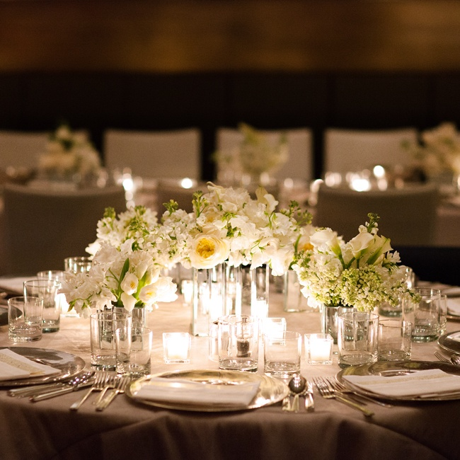 Modern Wedding Decoration Ideas: Reception Decor , Neutrals , White , Modern
