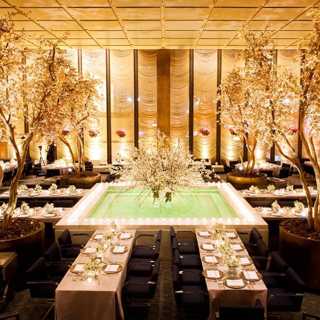 Gold Wedding Reception: The Four Seasons Restaurant, New York, NY