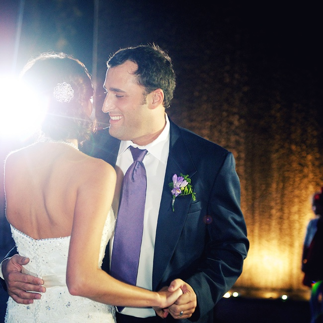 "Leigh and Jake danced to ""Crazy Love"" by Van Morrison for their first dance."
