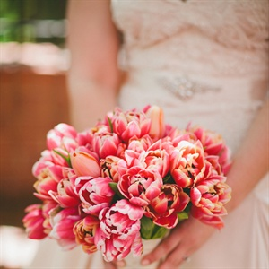 Pink Tulip Bridal Bouquet