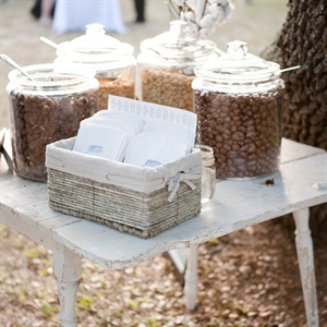 Candied Peanut Favor Table