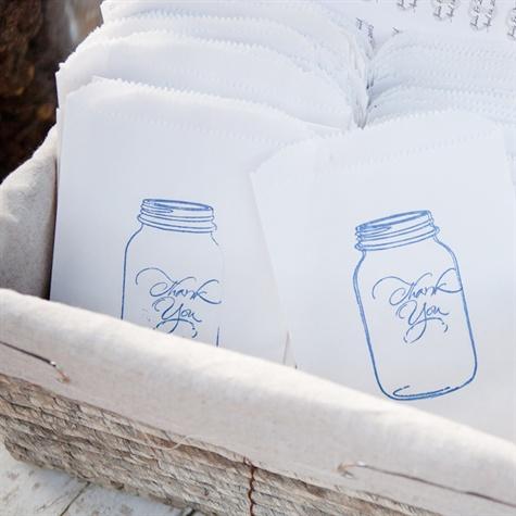 Mason Jar Favor Bags