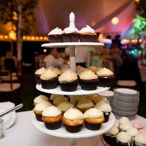 Along with cake, guests noshed on cupcakes in flavors like vanilla, coconut with almond buttercream, Guinness stout and Key lime pie.