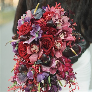 Deep-hued Bridal Bouquet