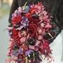 Deep-hued Bridal Bouquet