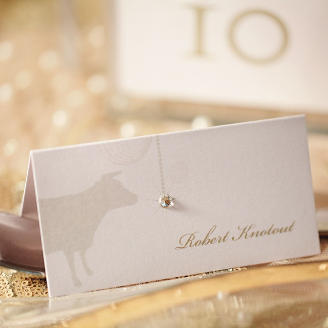 Once guests got to their tables, place cards told everyone where to sit.