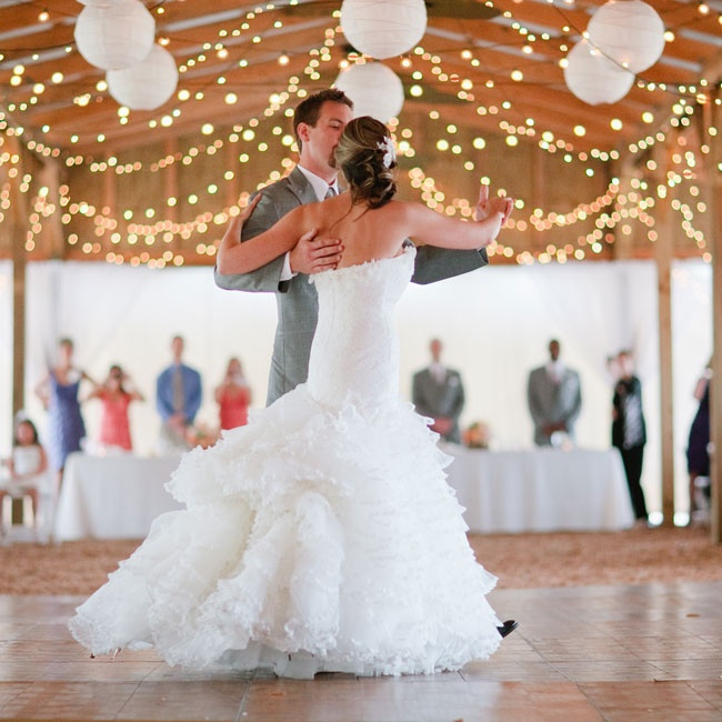 """The couple took dance lessons for six months, so they were excited when they finally got to perform their ballroom number to Florence & The Machine's """"Cosmic Love."""""""