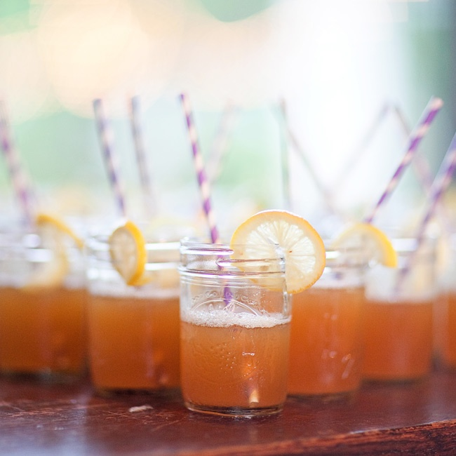 Guests sipped on Seersuckers du ring the cocktail hour; the drinks are made with pineapple juice, sweet tea vodka and Sprite.
