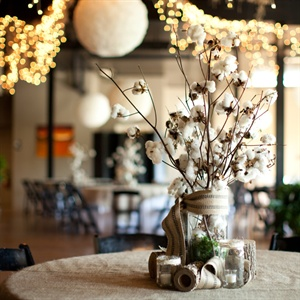 Cotton Reception Centerpieces
