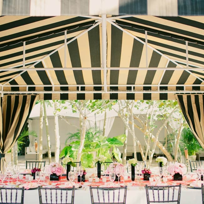 The reception design was inspired by 1940s Shanghai. Julia and Rendy used vibrant colors and a mix of patterns to master the look.