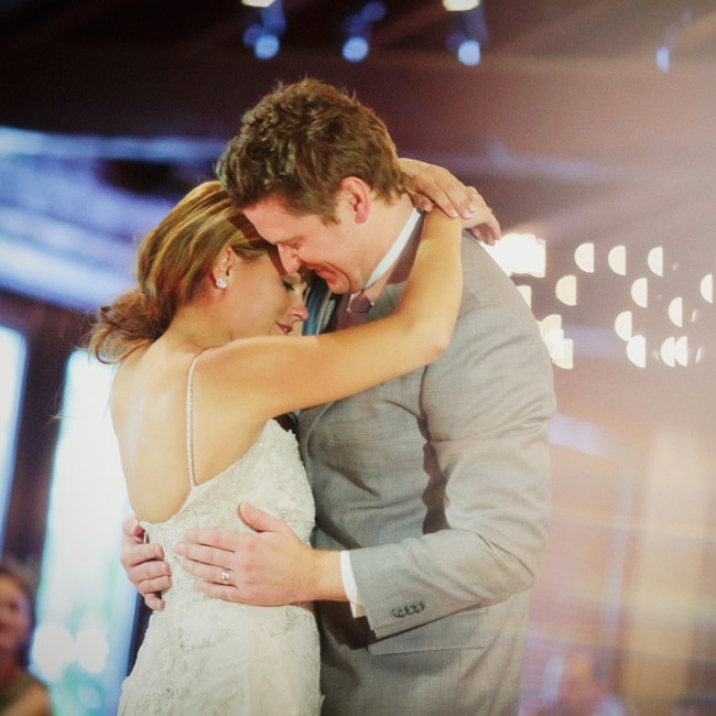 "The couple danced to ""When the Stars Go Blue"" by Ryan Adams for their first dance."
