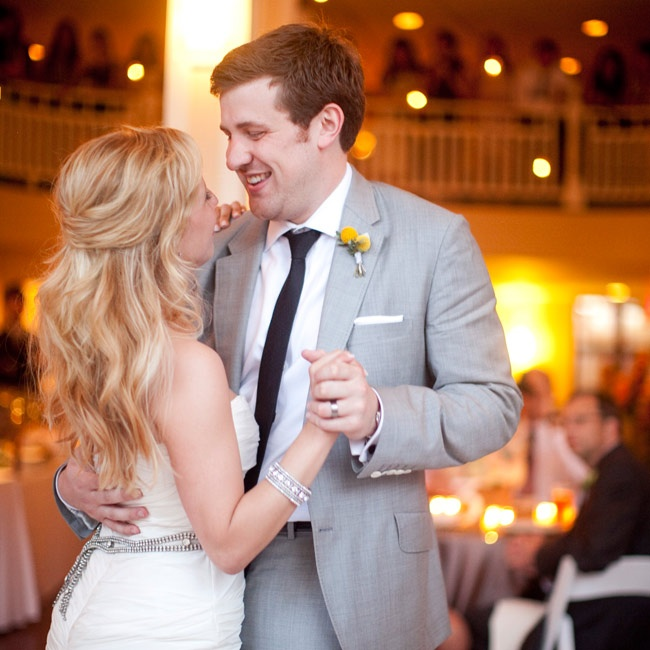 """Stay with You"" by John Legend was the perfect choice for their first dance."