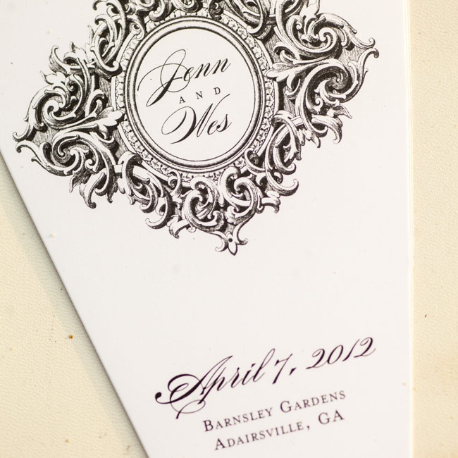 Guests learned about the ceremony traditions from elegant black-and-white programs.