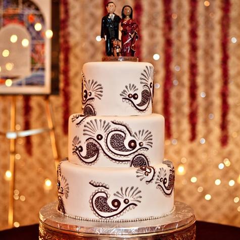 Henna Design Cake