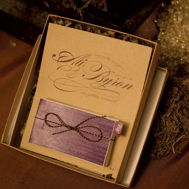 Guests received boxed flip book save-the-dates.