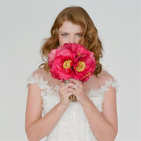 Monique Lhuillier Gown with Floral Embellishment