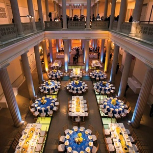 Yellow and Blue Reception Décor