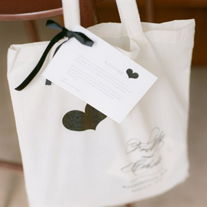 Custom totes greeted guests at their hotels. They were filled with goodies like a map of DC, gummy bears, peanuts, fresh fruit, personalized koozies and bottled water.