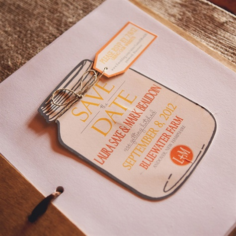 Mason Jar Save-the-Date