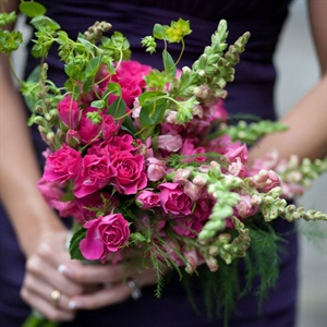 Pink Bridesmaid Bouquets