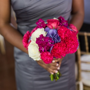 Bright Pink Bridesmaid Bouquet