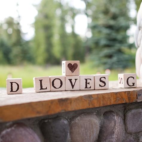 """LOVE"" Wooden Blocks"