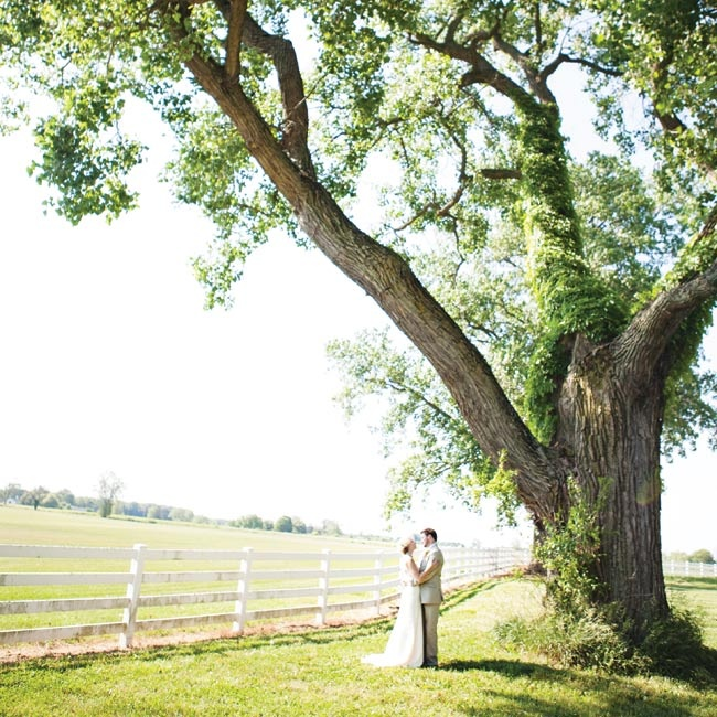 The couple picked the venue because its beautiful location set the perfect tone for their day.
