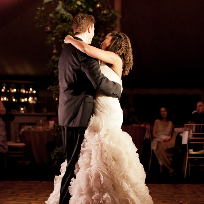"The couple danced to Adele's rendition of ""Make You Fell My Love."""