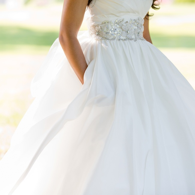 As a little girl, Bianca had always imagined herself in a ball gown. As an adult, she never thought she'd actually wear one for her day, but when she tried on her elegant dress, she knew it was perfect.